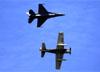 Lockheed Martin F-16C Fighting Falcon, 93-0540, a USAF (acima) e Douglas AD-6 Skyraider, N39606. (03/04/2019)