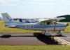 Cessna 172N Skyhawk, PR-TLB, do Aeroclube de Sorocaba. (10/08/2013) Foto: Ricardo Frutuoso.