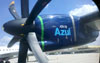 Detalhe de uma turbina de um ATR 72-600 da Azul. (18/10/2012) Foto: Sérgio Cardoso.